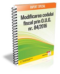 Modificarea Codului Fiscal prin OUG 84