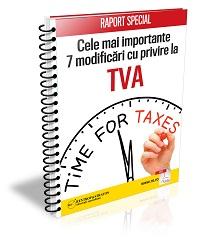 Cele mai importante modificari cu privire la TVA