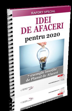 Idei de afaceri pentru 2020. 7 exemple insotite de Planul de Afaceri
