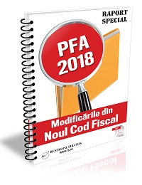 PFA in 2018 - modificarile din Noul Cod Fiscal