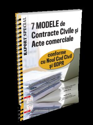 7 modele de Contracte Civile si Acte Comerciale - conforme cu Noul Cod civil si GDPR